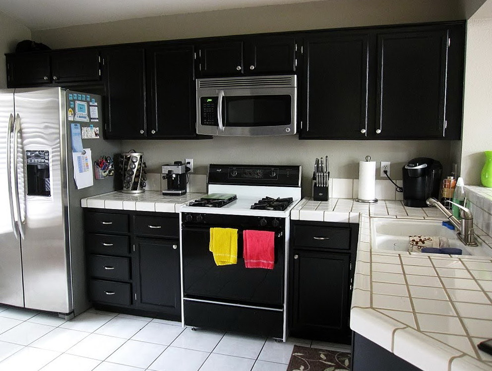 Paint Kitchen Cabinets Black Before After