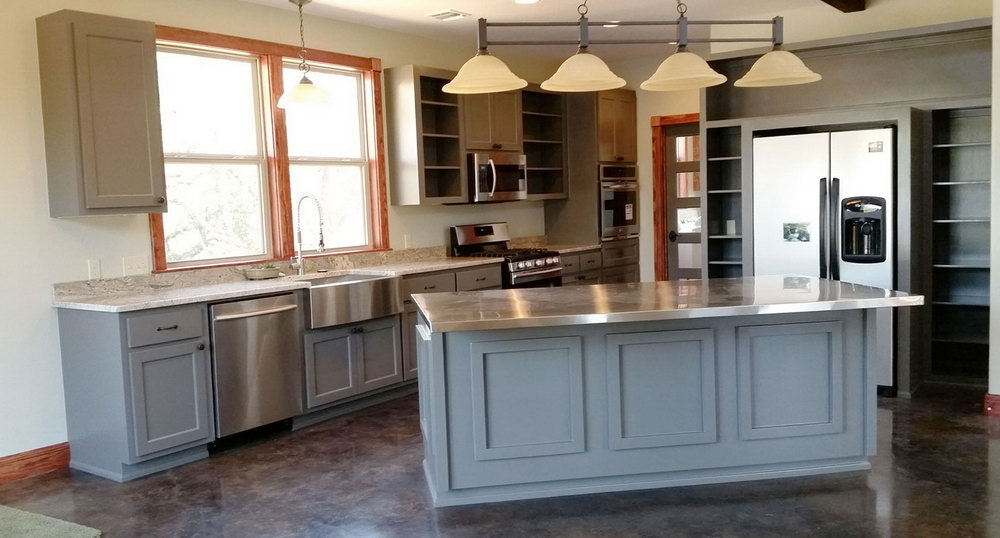 Painted Shaker Style Kitchen Cabinets