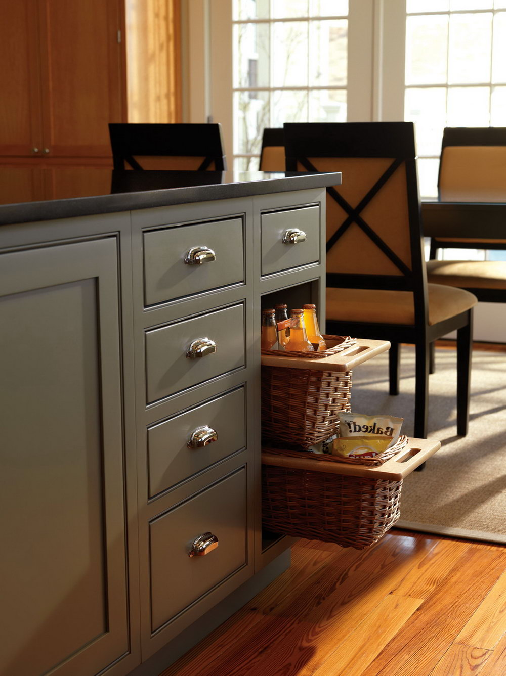 Pull Out Wicker Baskets For Kitchen Cabinets