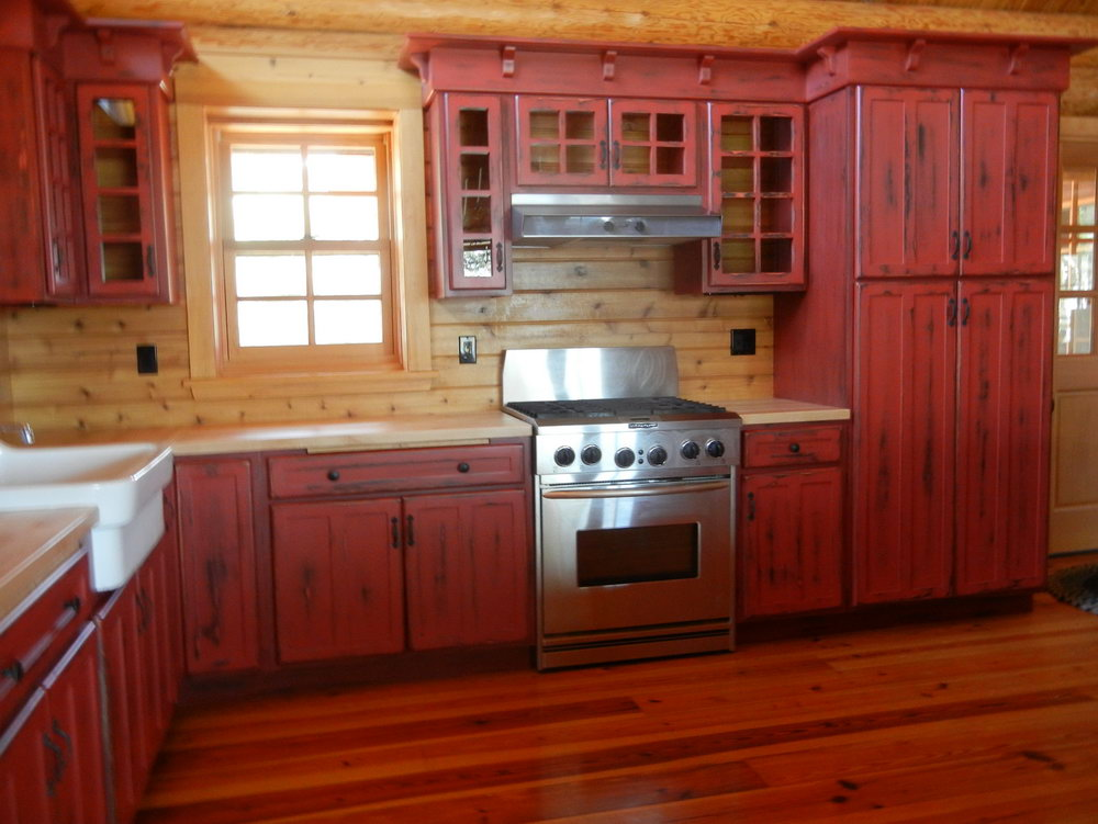 Red Kitchen Cabinet Doors
