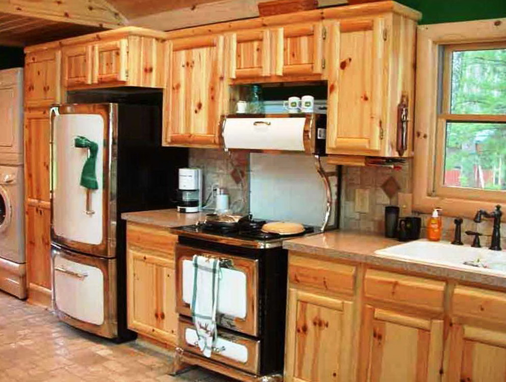 Rustic Pine Kitchen Cabinets For Sale