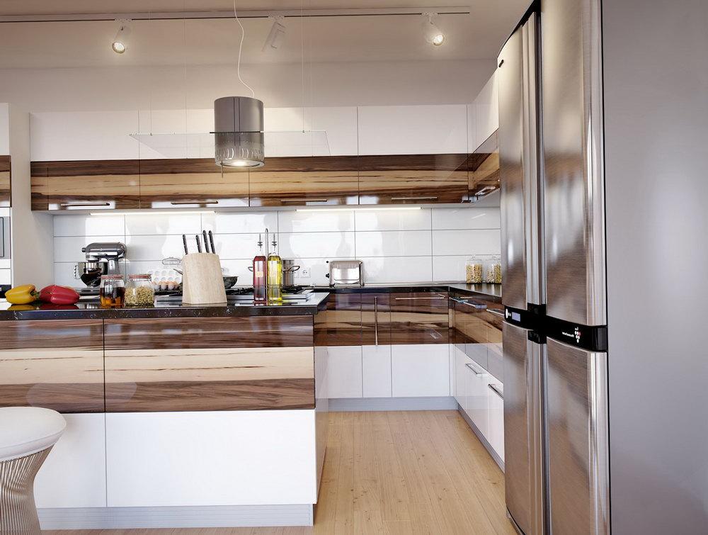 Semi Gloss White Kitchen Cabinets