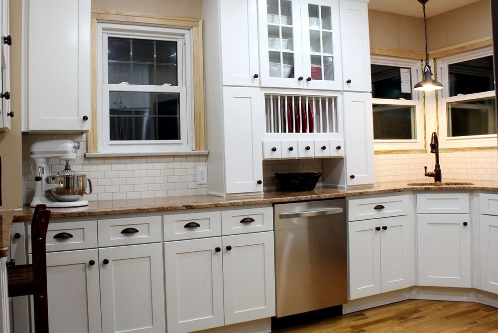 Shaker Cabinets Kitchen Farmhouse Stained And Painted)