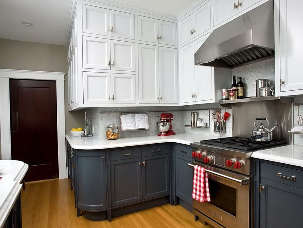 Two Color Cabinets For Kitchens