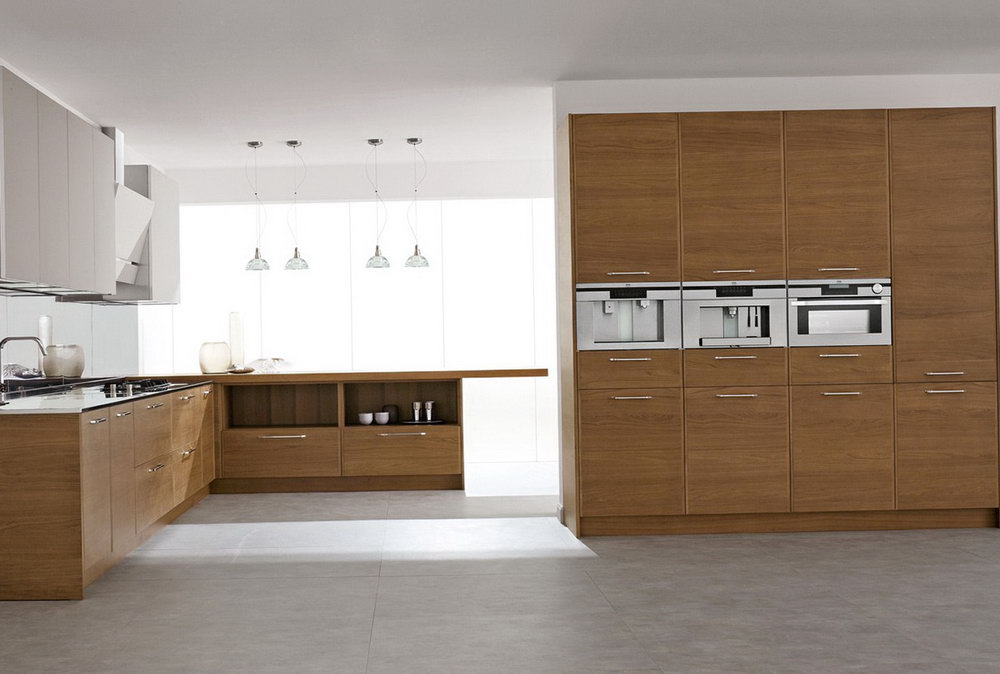 Walnut Veneer Kitchen Cabinets