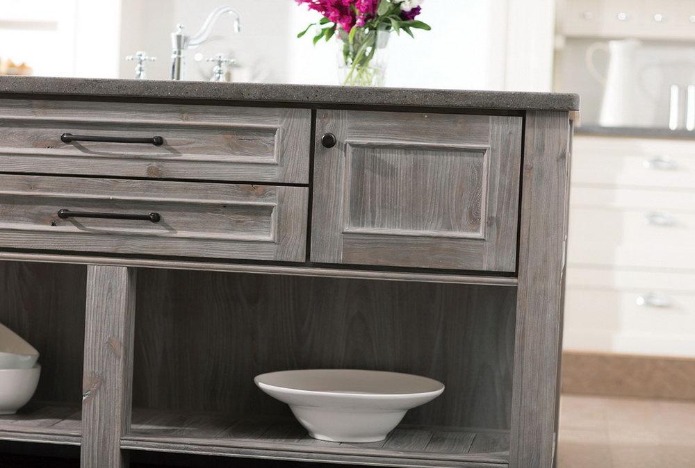 Weathered Gray Kitchen Cabinets
