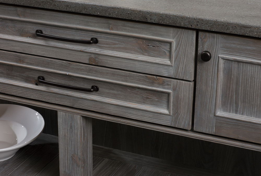 Weathered Grey Kitchen Cabinets