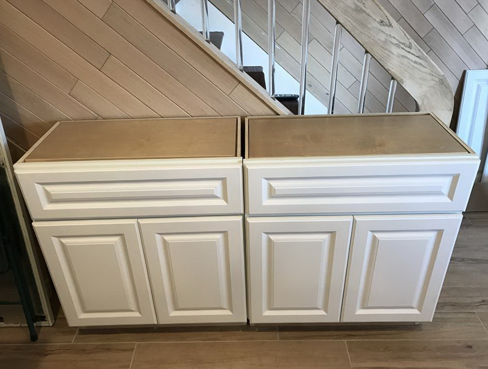 White Base Kitchen Cabinets For Sale