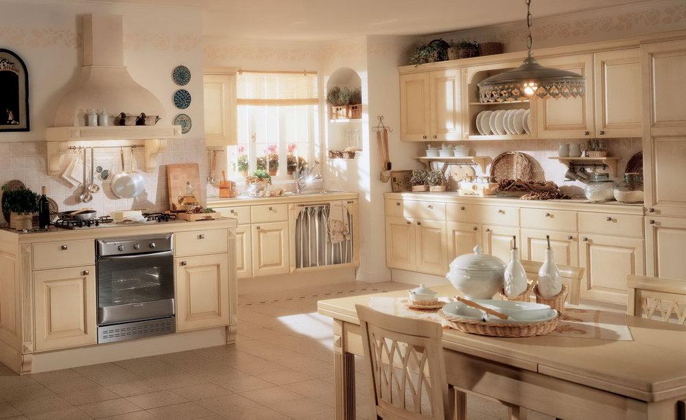 White Classic Kitchen Cabinets