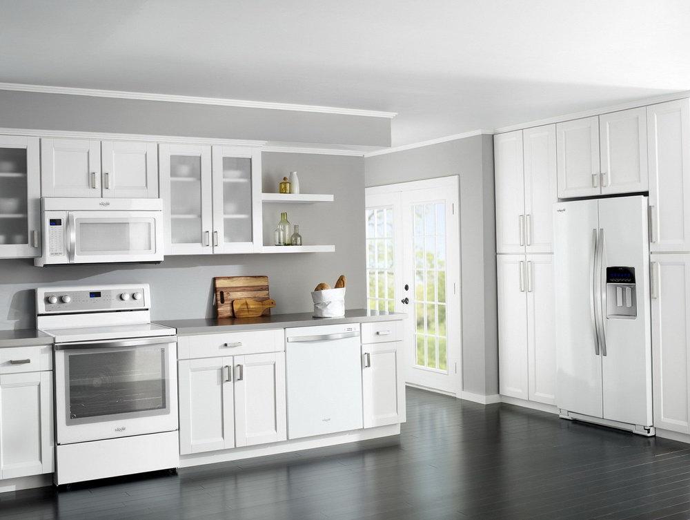 White Kitchen Cabinets Gray Granite Countertops