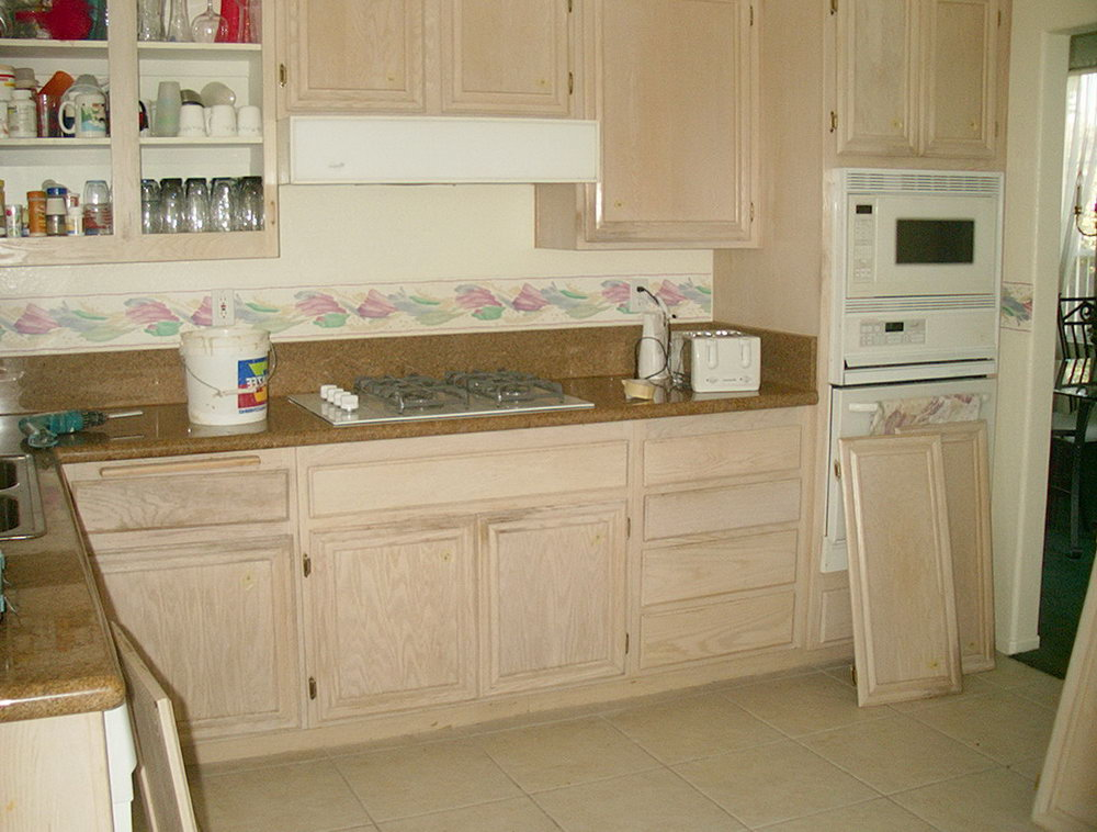 White Wash Wood Kitchen Cabinets