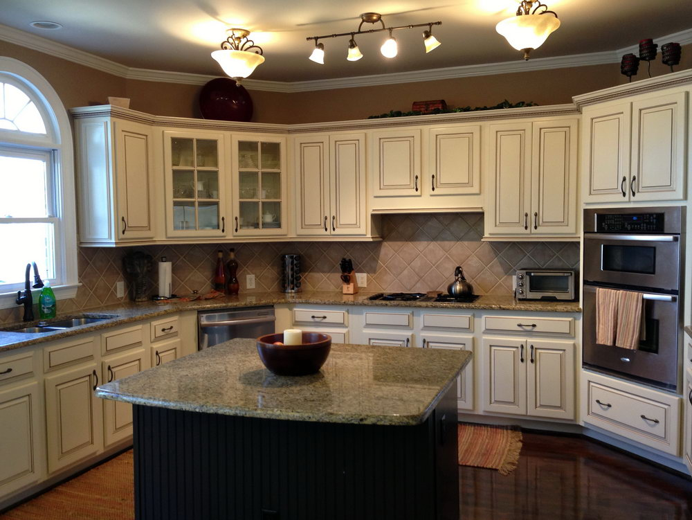 Almond Color Kitchen Cabinets