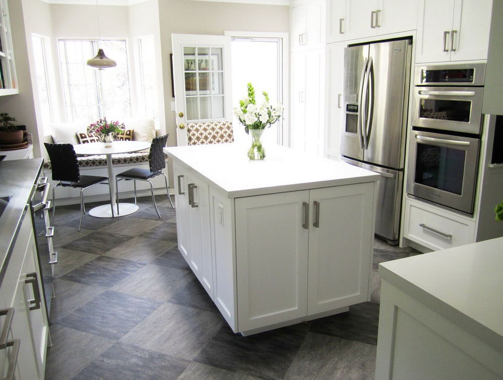 Best Kitchen Floors With White Cabinets