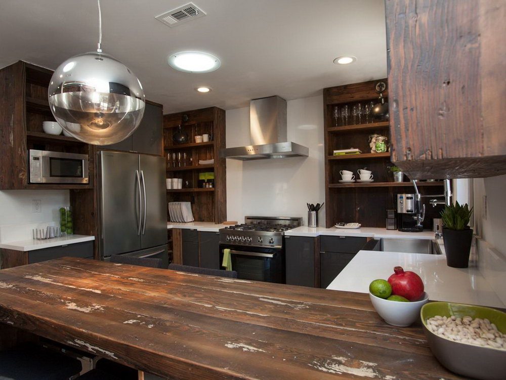 Black Kitchen Cabinets Rustic