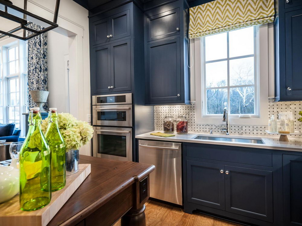 Blue Cabinets In Kitchen