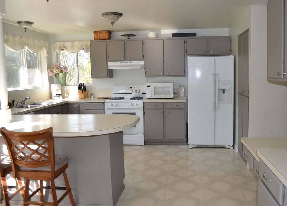 Diy White Kitchen Cabinets Before And After