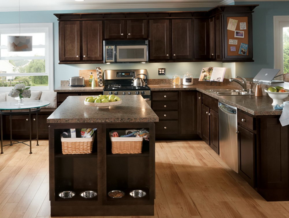 Espresso Brown Kitchen Cabinets