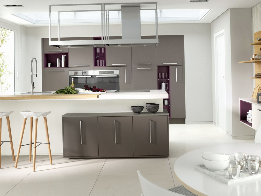 Grey Gloss Kitchen Cabinets