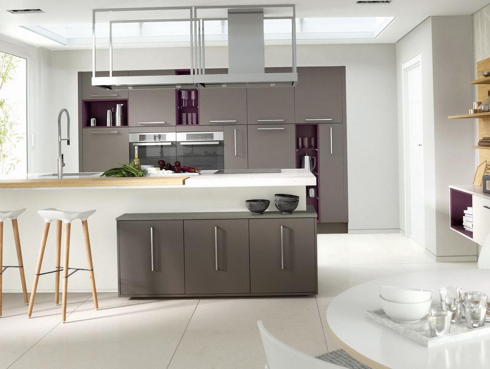 Grey Gloss Kitchen Cabinets