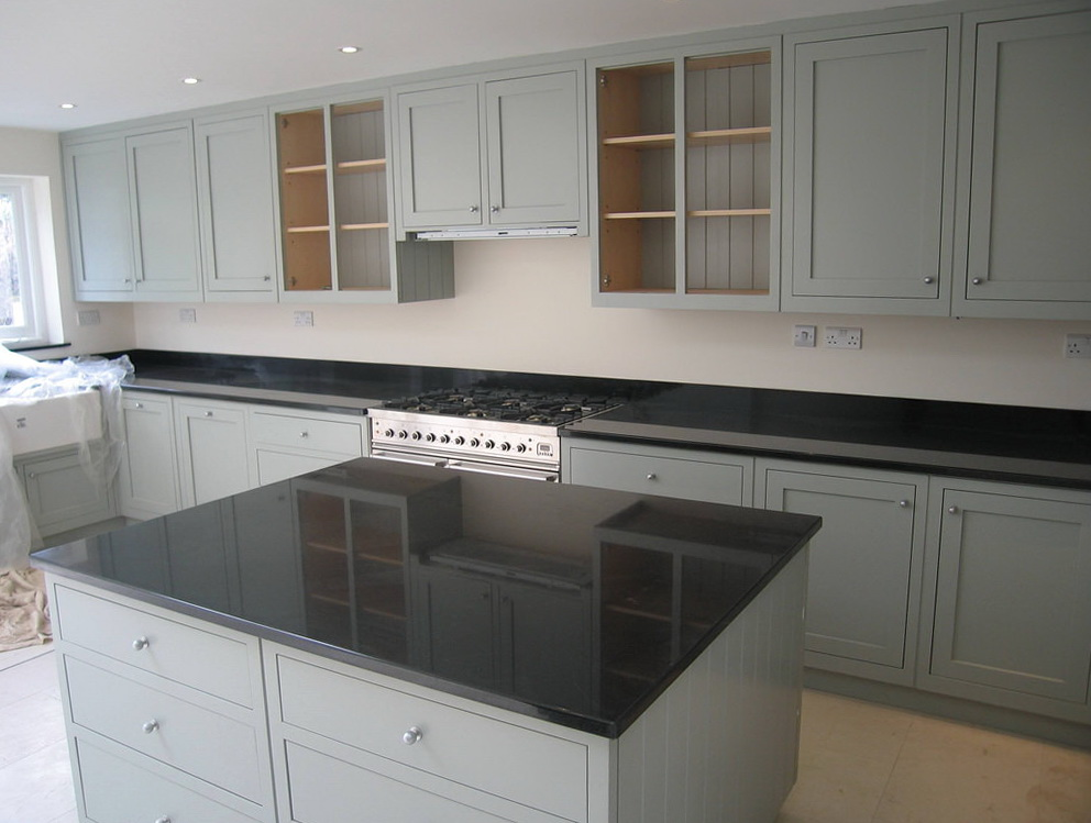 Grey Wood Stain Kitchen Cabinets