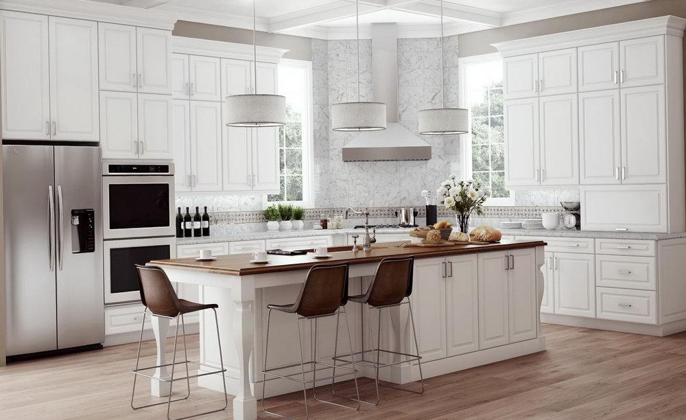 Hampton Bay Cognac Kitchen Cabinets