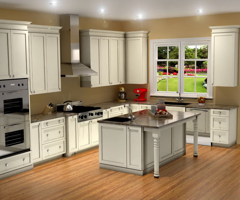 Hampton Style Kitchen Cabinets