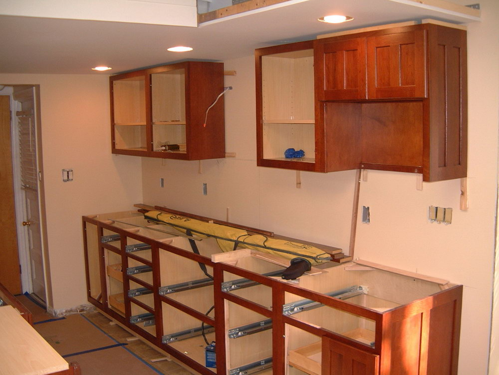 How To Install Base Kitchen Cabinets Youtube