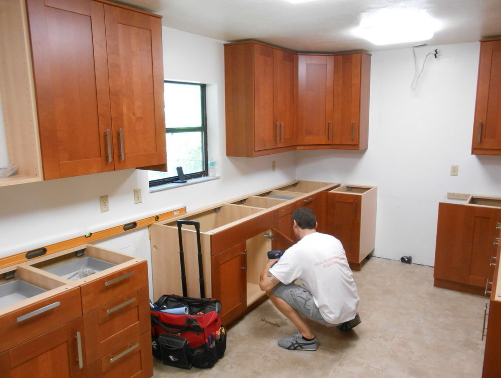How To Install Upper Kitchen Cabinets Alone