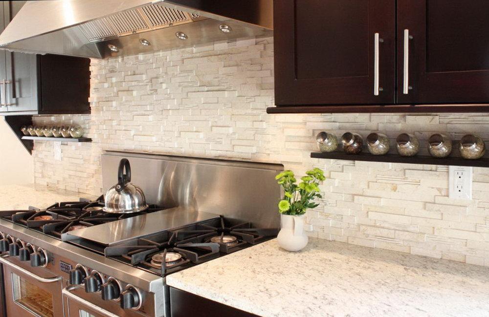 Kitchen Backsplash Pictures With Dark Cabinets