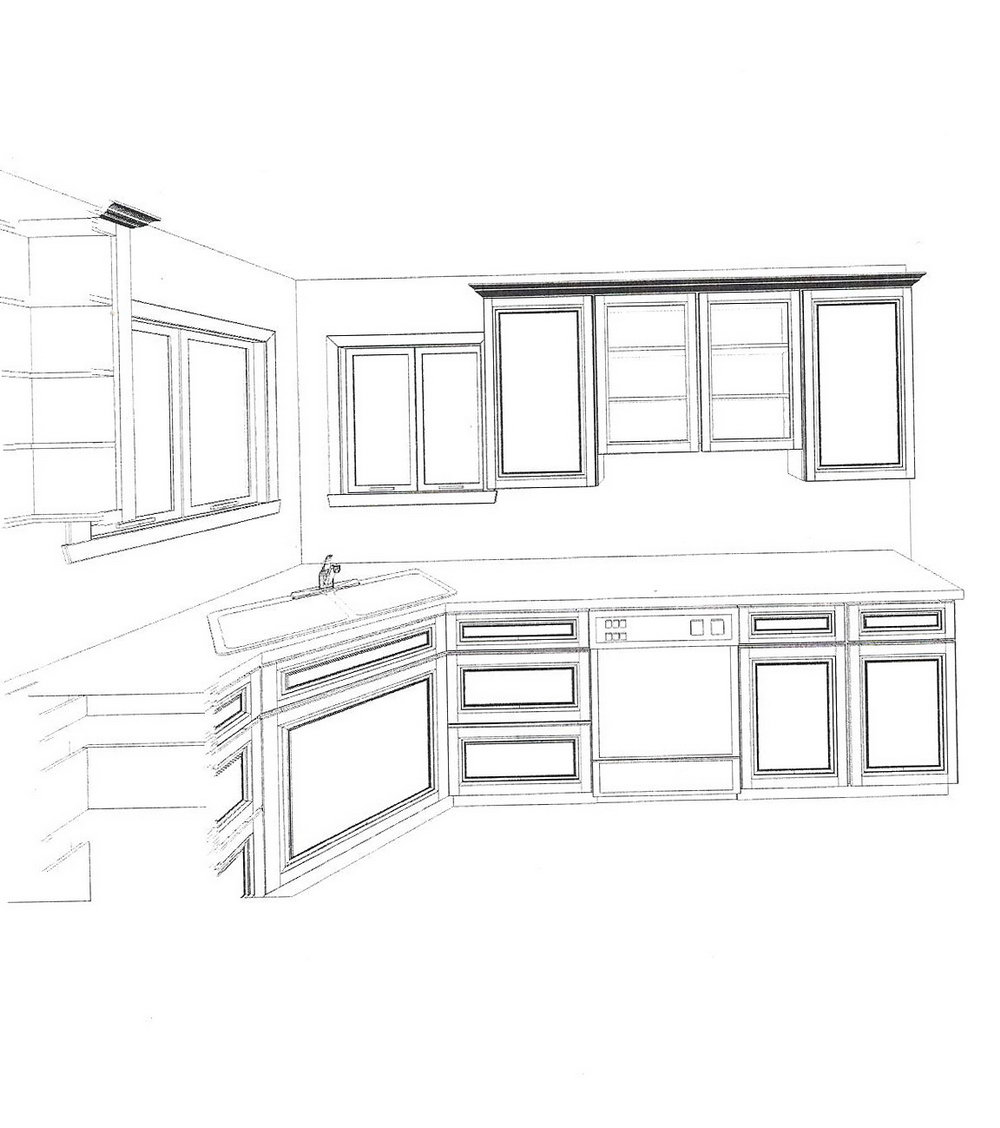 Kitchen Cabinet Drawings In Autocad