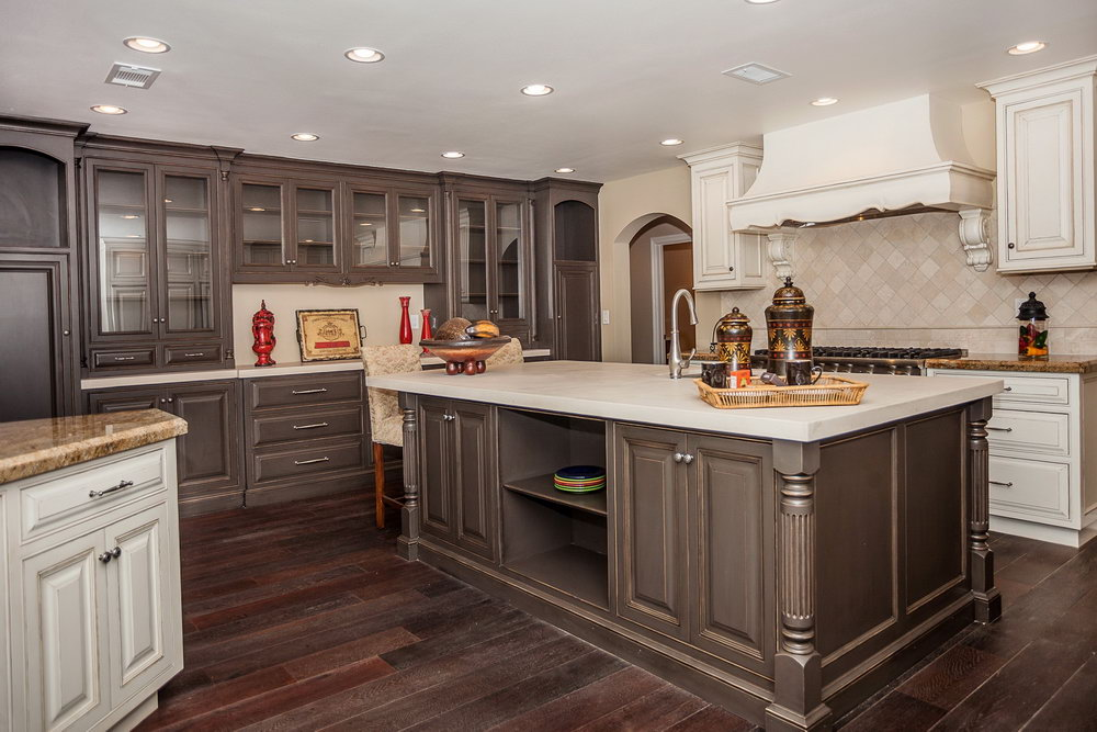 Kitchen Cabinet Ideas With Dark Wood Floors