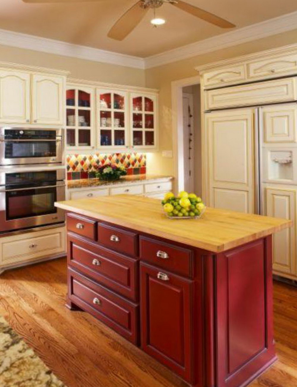 Kitchen Cabinets Different Color Island