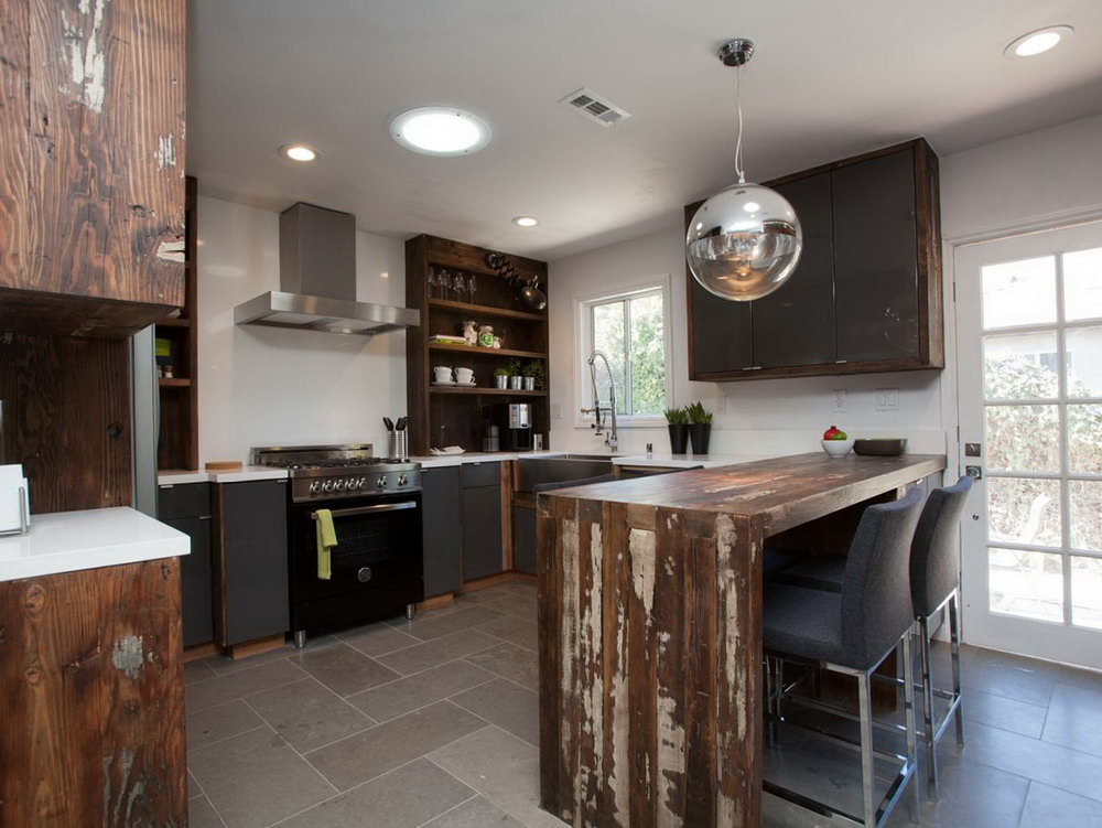 Kitchen Cabinets Rustic Modern