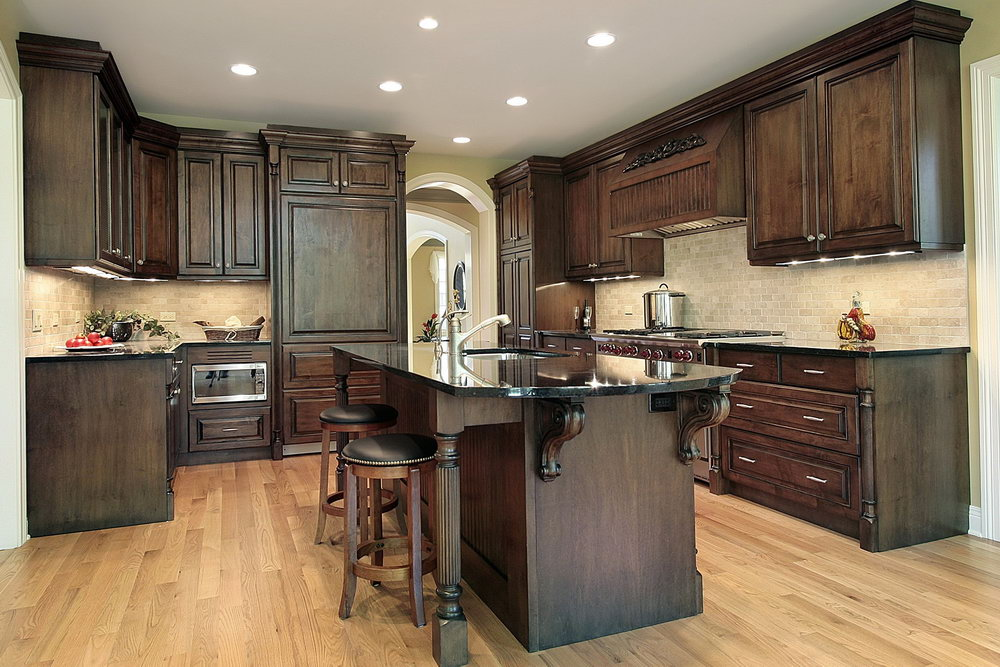 Kitchen Cabinets With Dark Countertops
