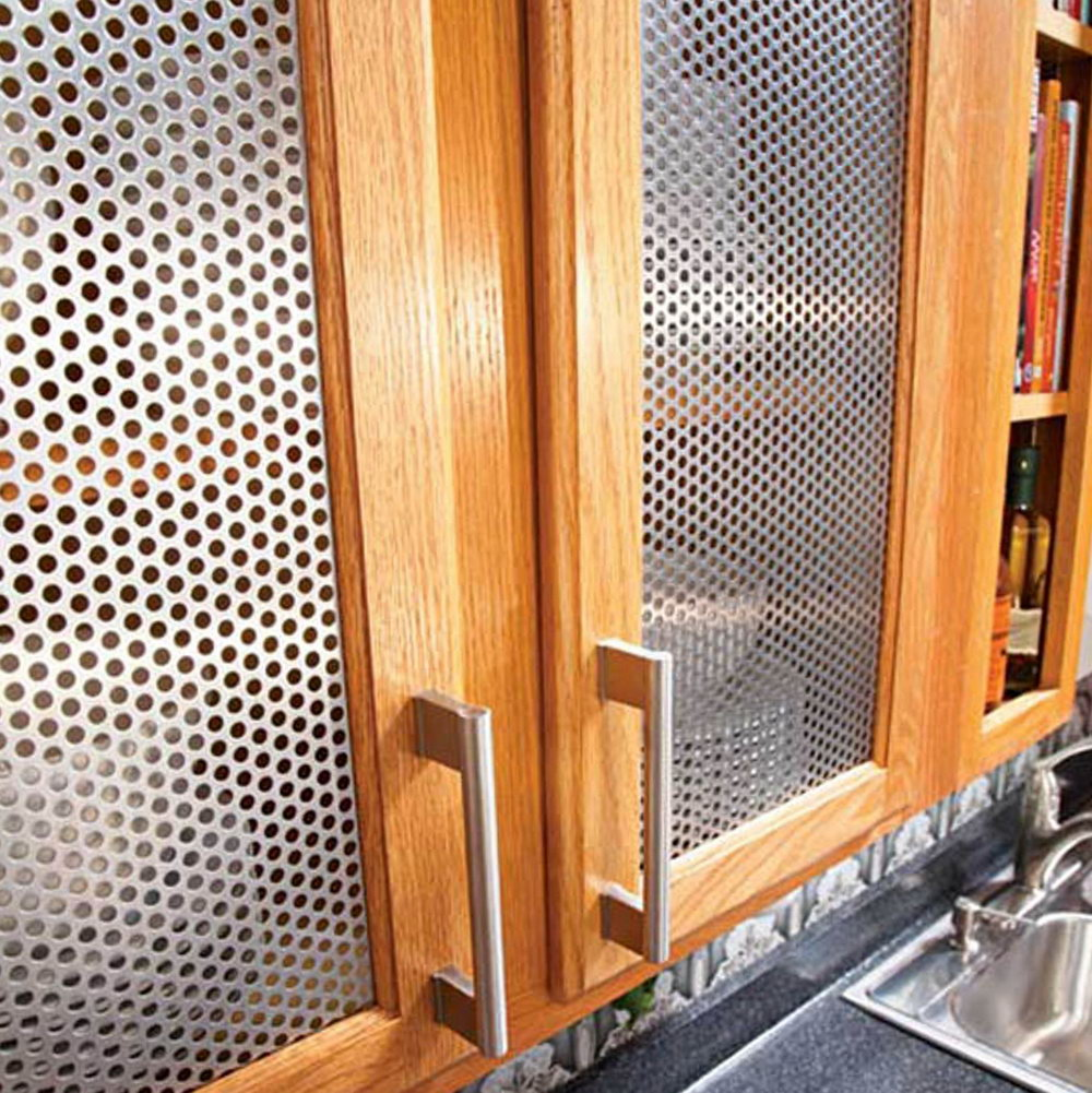Kitchen Cabinets With Metal Inserts