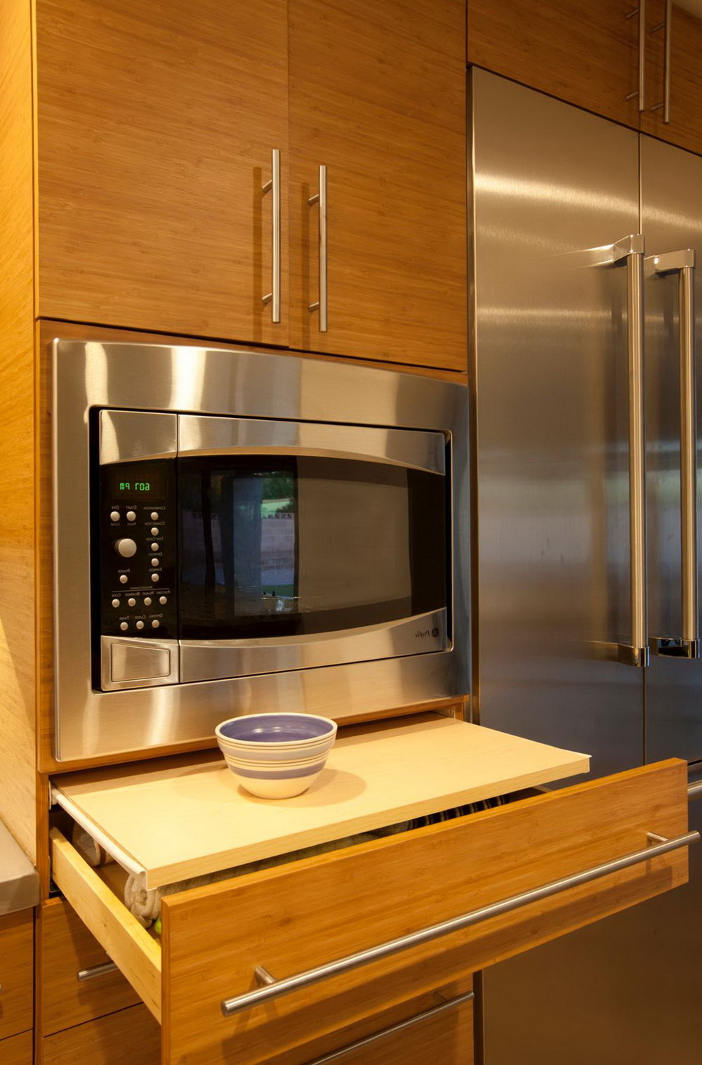 Kitchen Cabinets With Microwave Shelf