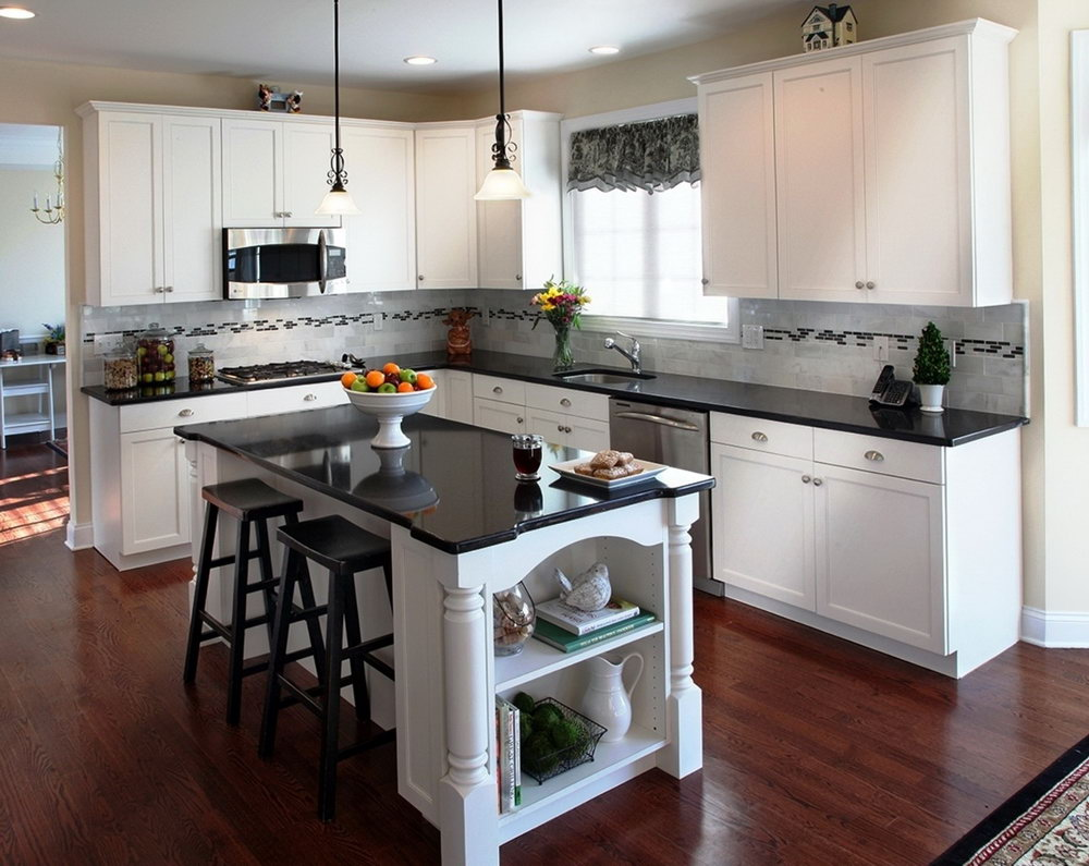 Kitchen Paint Colors White Cabinets Black Countertops