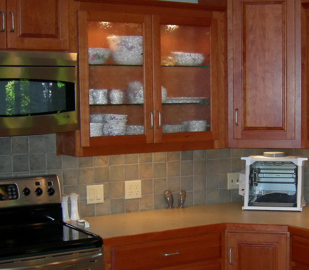 Kitchen Pantry Cabinet With Microwave Shelf