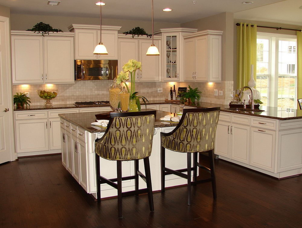 Kitchen Tile Floors With White Cabinets