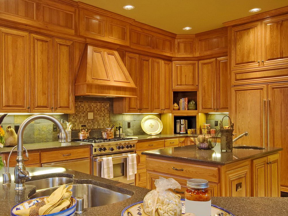 Kitchen Wall Colours With Oak Cabinets
