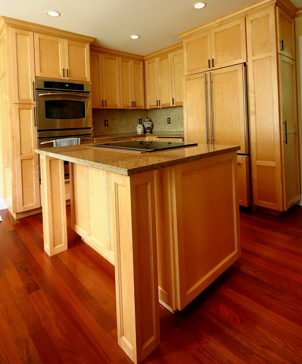 Kitchens With Wood Cabinets And Wood Floors