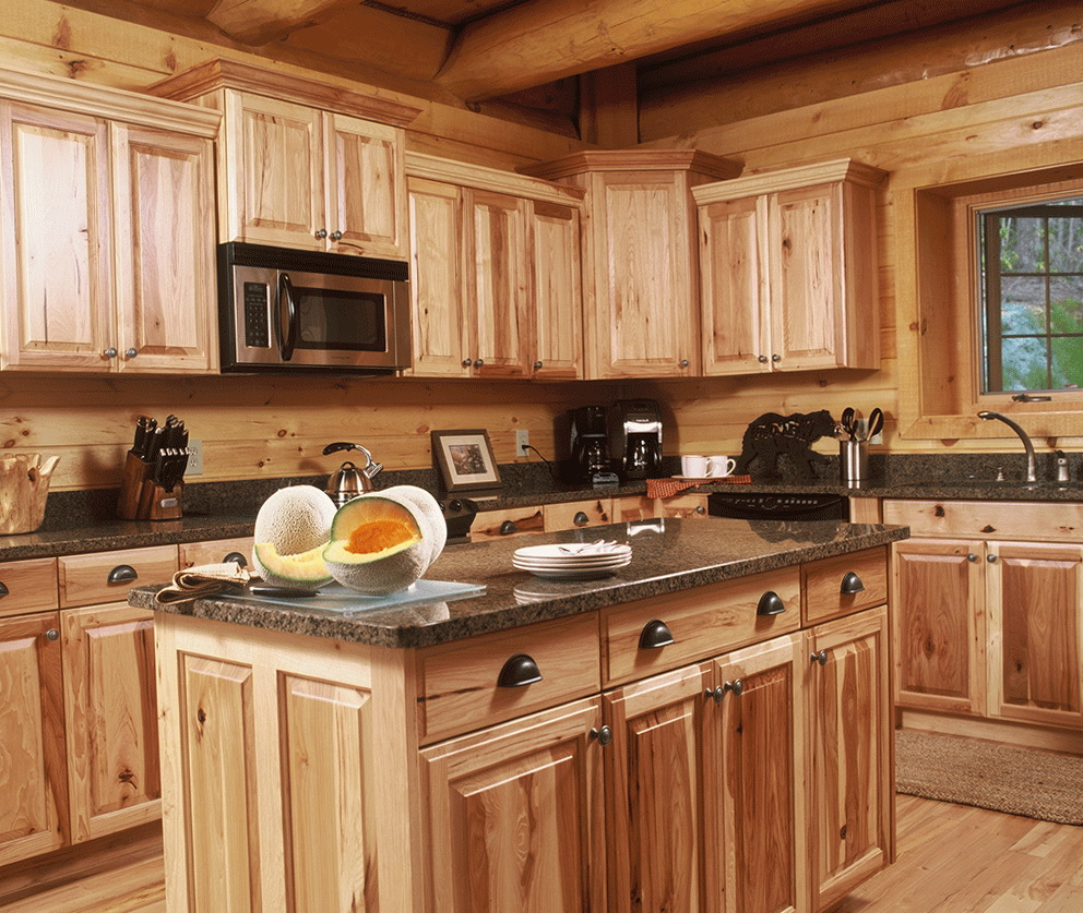Log House Kitchen Cabinets