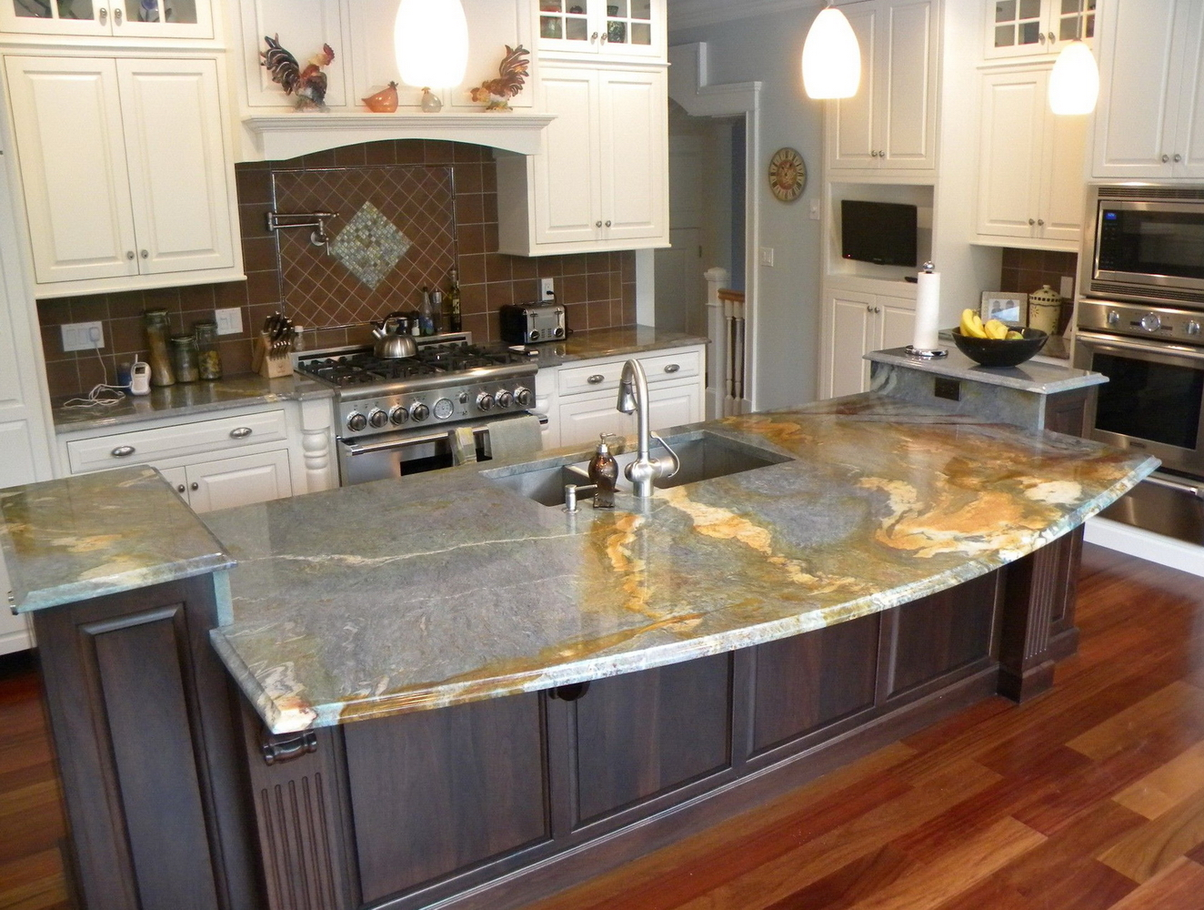 Marble Laminate Kitchen Cabinets