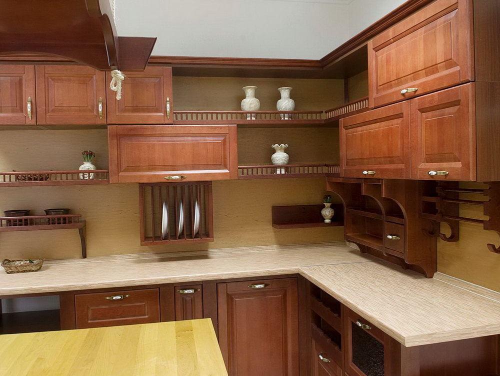 Open Cabinets In Kitchen