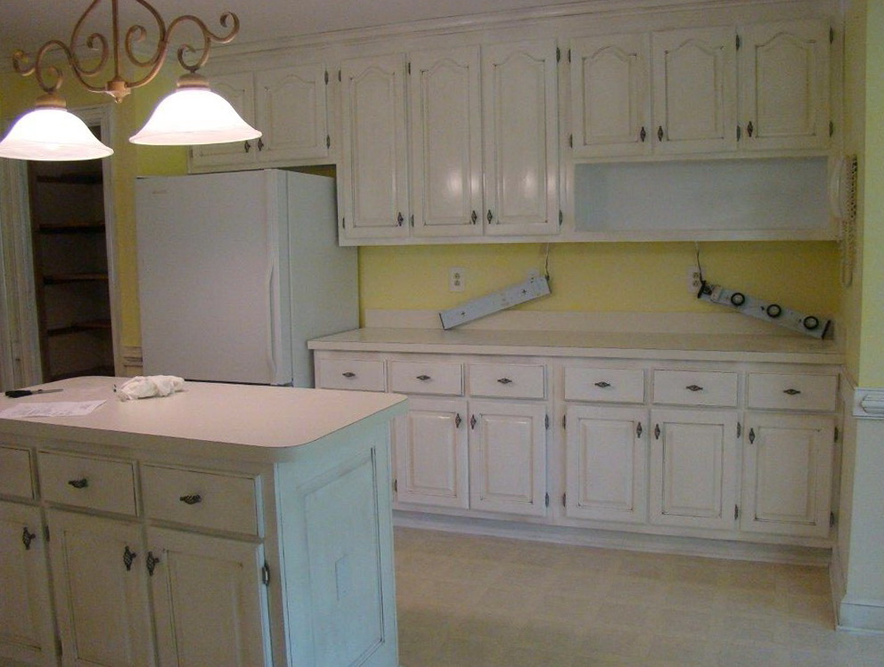 Painted Pine Kitchen Cabinets