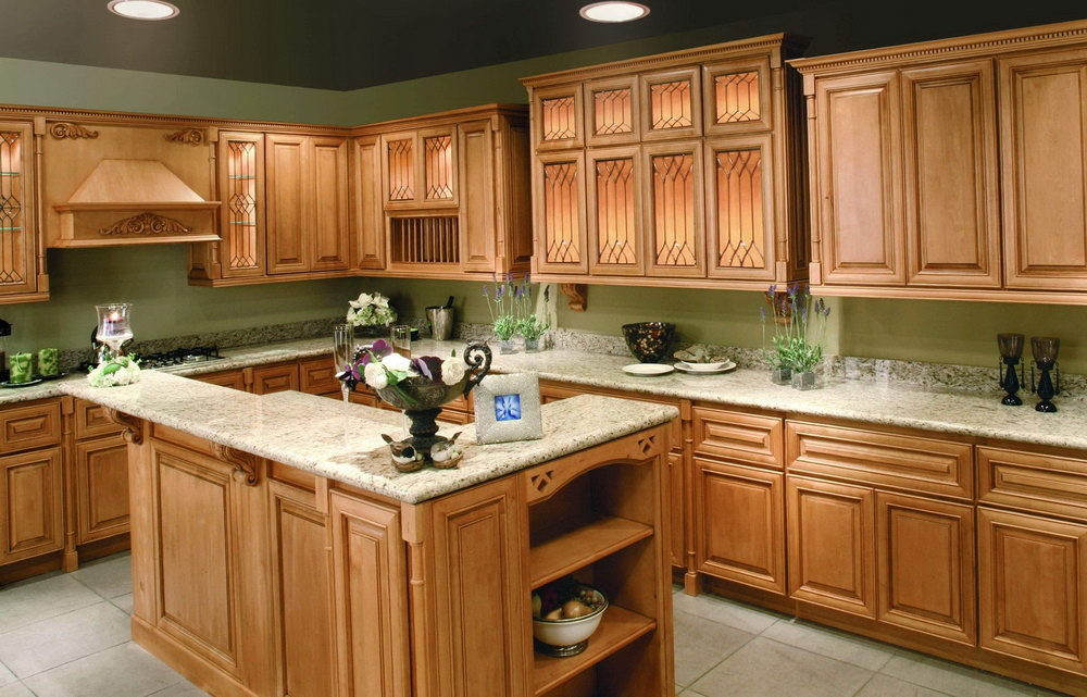 Pictures Of Kitchens With Wood Cabinets
