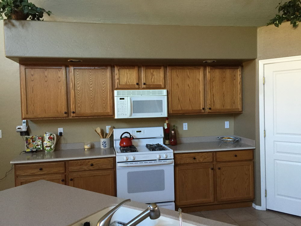 Refinishing Old Kitchen Cabinets Before And After