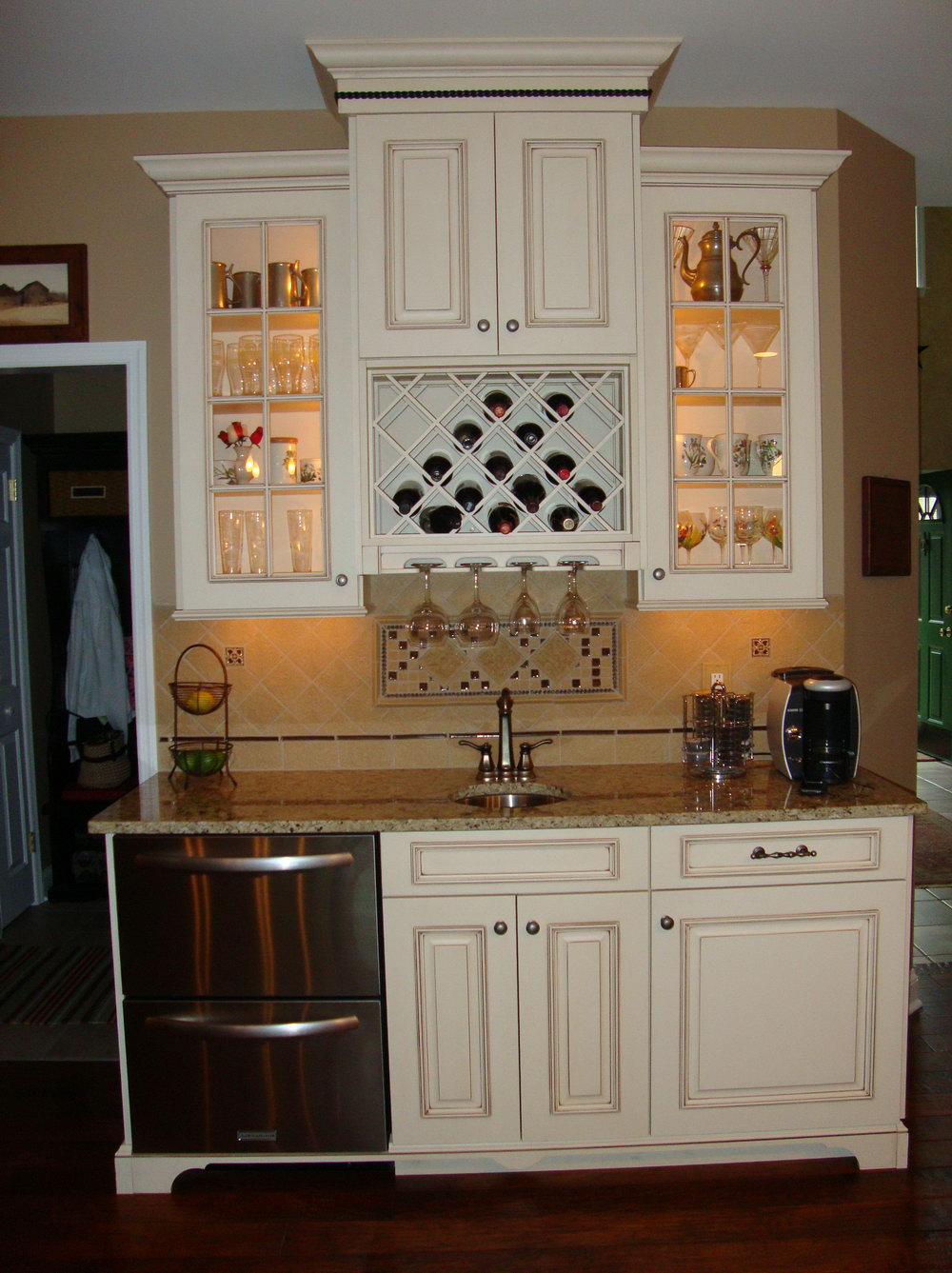Upper Kitchen Cabinet Wine Rack
