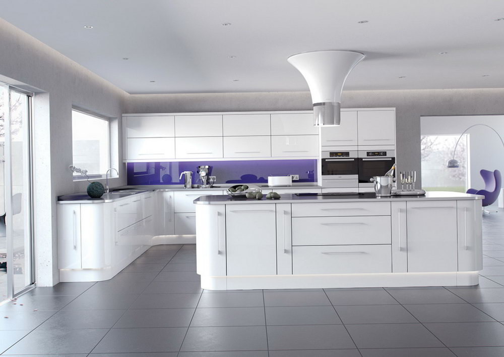 White High Gloss Kitchen Cabinets