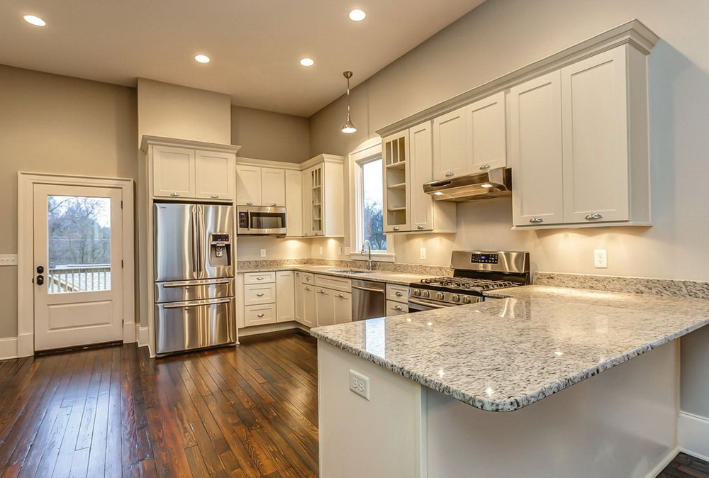 White Kitchen Cabinets Open Concept